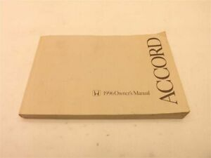 ACCORD    1996 Owners Manual 158381