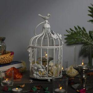 Antique Lantern White Bird Cage Home Décor as Hanging Pendant Ceiling Chandelier