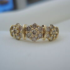 1.00ct Untreated Certified Champagne Diamond Gold Band Ring