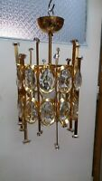Vintage PALWA Crystal Chandelier Pendant from 1960-70