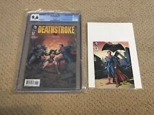 Deathstroke 16 CGC 9.6 White Pages (Classic Batman v Superman Variant!!) + extra