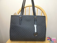 NWT New Michael Kors Handbag Jet Set Travel Large East West Tote Black Bag