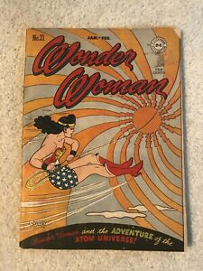 WONDER WOMAN 21 DC 1947 CLASSIC GOLDEN AGE BEAUTY HG PETER'S ART