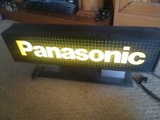 New listing Vintage Panasonic Store Display Light Up Sign 1980's