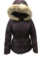 Coach 84047 Women's Fur Trim Hooded Short Legacy Down Puffer Jacket Winter Coat