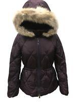Coach 84047 Women's Fur Trim Hooded Short Legacy Down Puffer Jacket Winter Coat