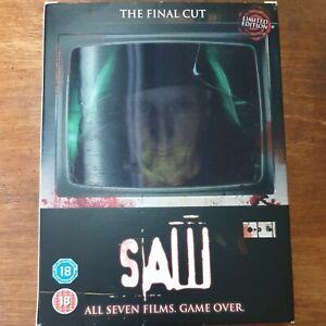 Saw The Final Cut Seven DVD Box Set VGC FREE POST R2