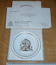 """collectible rare bone chine plate """"world of toys"""" Andaw Enterprises limited edi"""