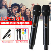 Professional Dual Handheld Wireless Microphone UHF Mic Receiver Dynamic Karaoke