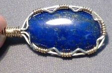 Natural Blue Lapis with pyrite in Sterling Silver PENDANT (Stone 26.9 cts.)
