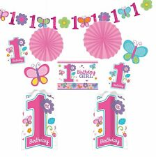 AMSCAN 240432 - Geburtstag & Party - Dekoset zum 1. Geburtstag Mädchen
