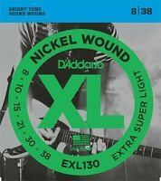 3 Sets D'Addario EXL130 Electric Guitar Strings 8-38 Extra Super Light