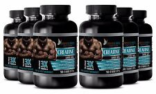 Pure Creatine hcl Monohydrate Powder 3X 5000mg Muscle Growth 540 Pills 6 Bottles