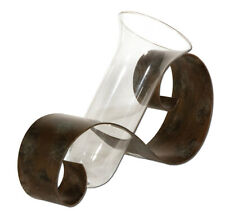Uttermost 19516 Contemporary Curl Vase 20 X 14 Glass and Metal Design