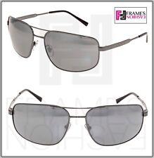 VERSACE Men Wrap Aviator Sunglasses VE2158 Gunmetal Black Silver Mirrored 2158