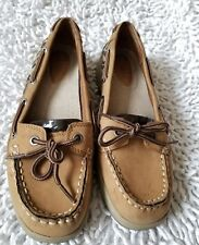 Natural Soul by Naturalizer  Womens Boat Shoes Size 8M Tan/Leopard