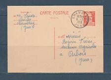 carte entier type Marianne de Gandon 12f orange Chamblay num:  885 cp1 oblitéré