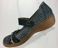 Rieker Mary Jane Antistress Blue Comfort Punched Casual Womens Sz 38 US 7/7.5
