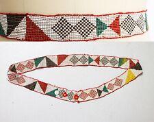 Vintage Native American Beaded Belt 1920s Small Medium