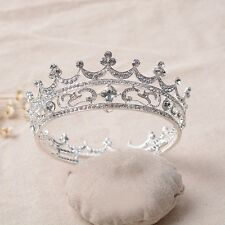 Luxury wedding Tiara Bridal Baroque Crown  Crystal  Rhinestone Party Hairpiece