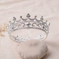 Luxury Matrimonio Tiara da Sposa BAROCCO Corona Cristallo Rhinestone PARTY Parrucchino