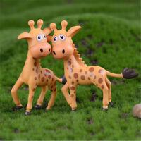 Mini Harz Giraffe Miniatur Figur Puppenhaus Garten Dekor Micro Landschaft