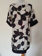 Missoni for Target Black White Floral Silk Tunic Top Shift Dress – size 12-14