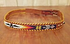 Amazing Vintage Western Belt, beaded Thunderbird studded rhinestone jeweled