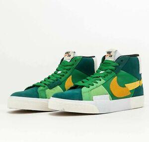 Nike SB Zoom Blazer Mid Premium Mosaic Green DA8854-300 Skate Shoes Sneakers