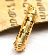 Gold 18k Pendant Cross Reliquary Jesus Boat Religious presents for men