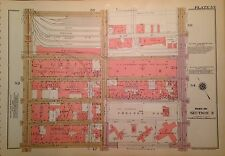 1955 CHELSEA W. 26-W 32ND STREET MANHATTAN NY G.W. BROMLEY PLAT ATLAS MAP 12X17