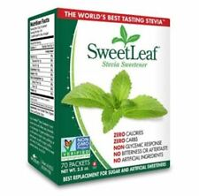 USA SweetLeaf Natural Stevia Sweetener Zero Calorie 70 Packets