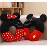 Cute Soft Plush Home Mickey Minnie Mouse Neck Pillow Portable Car Travel Gift