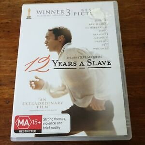 12 Years a Slave DVD R4 VERY GOOD - FREE POST