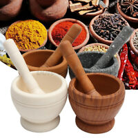 Resin Mortar & Pestle Set Grinder Bowl Guacamole Herb Spice Mixing Grinding