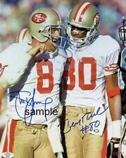 JERRY RICE STEVE YOUNG REPRINT 8X10 AUTOGRAPHED SIGNED PHOTO PICTURE 49ERS RP