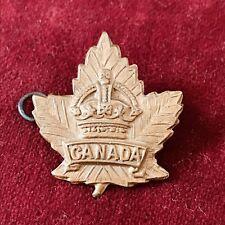 Original Canadian Maple Leaf Army Collar Shoulder Cap Badge