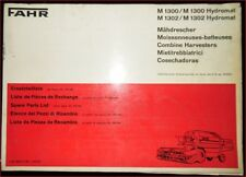 Fahr Mähdrescher M 1300 , M 1300 Hydromat Ersatzteilliste