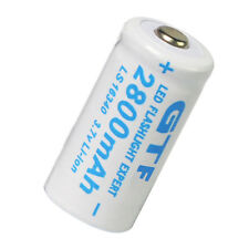 10x 3.7V CR123A CR123 16340 2800mAh GTL Rechargeable Battery for Laser Pointer