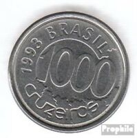 Brasilien KM-Nr. : 626 1993 vorzüglich Stahl 1993 1000 Cruzeiros Fisch