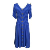 Maeve by Anthropologie Womens Dress Tonal Striped Blue Size 6