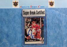 1991 Pro Set #380 RAY SHEPPARD Autograph | Red Wings | Super Break Certified