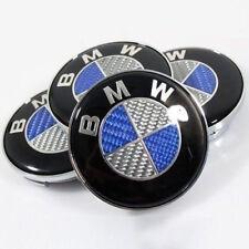 4x BMW Nabenkappen Felgendeckel  Nabendeckel 68mm Carbon look