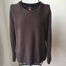 Lord And Taylor Long Sleeve 100% Cashmere Crewneck Sweater Brown  Sz. XL