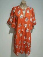 Veronika Maine 10 (fit 10 or 12) orange floral shift dress.