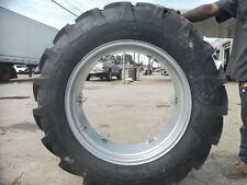 TWO 12.4x28,12.4-28 8 Ply JOHN DEERE 435 Tractor Tires on 6 Loop Wheels