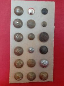 JOB LOT OF ANTIQUE & VINTAGE MILITARY BUTTONS PLUS OTHERS...SOME RARE...LOT E