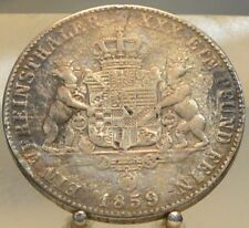 1859 A Germany Anhalt Bernberg Silver Thaler, Old World Silver Coin