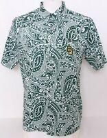 NEW Baylor BU Bears Colosseum Green Hawaiian Button Up SS Shirt Shirt Men's L