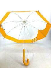 Hunter Small Kids Umbrella Clear Yellow See Through Rain Gear Girls Boys
